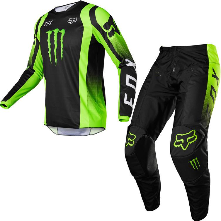 Fox Racing 2022 180 Monster Motocross Jersey & Pants Black Kit