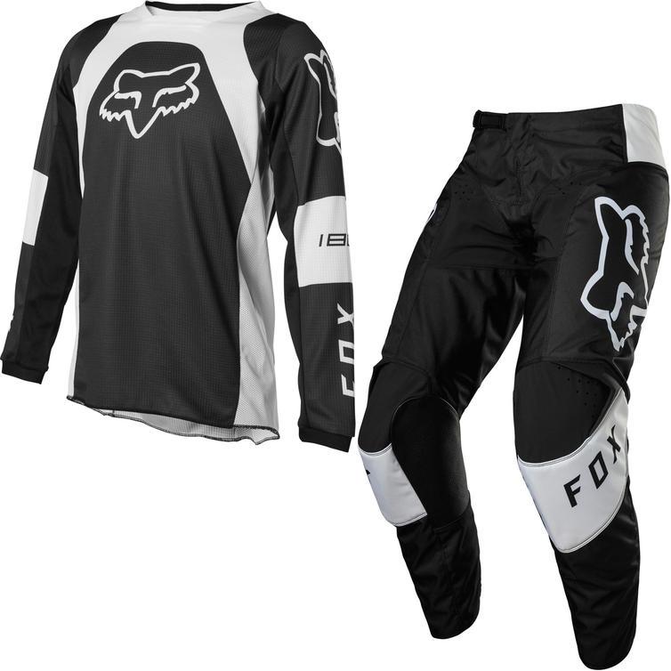 Fox Racing 2022 Youth 180 Lux Motocross Jersey & Pants Black Kit