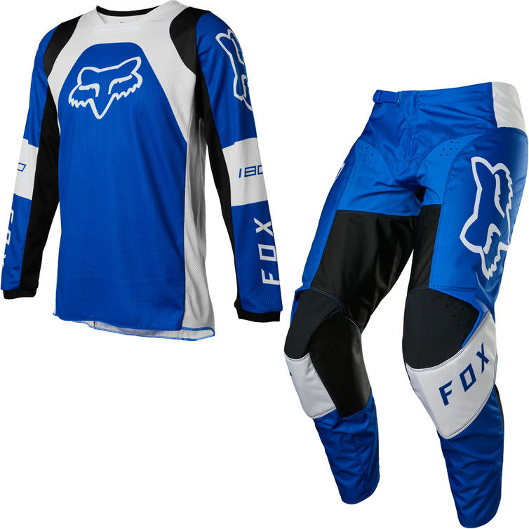Fox Racing 2022 Youth 180 Lux Motocross Jersey & Pants Blue Kit