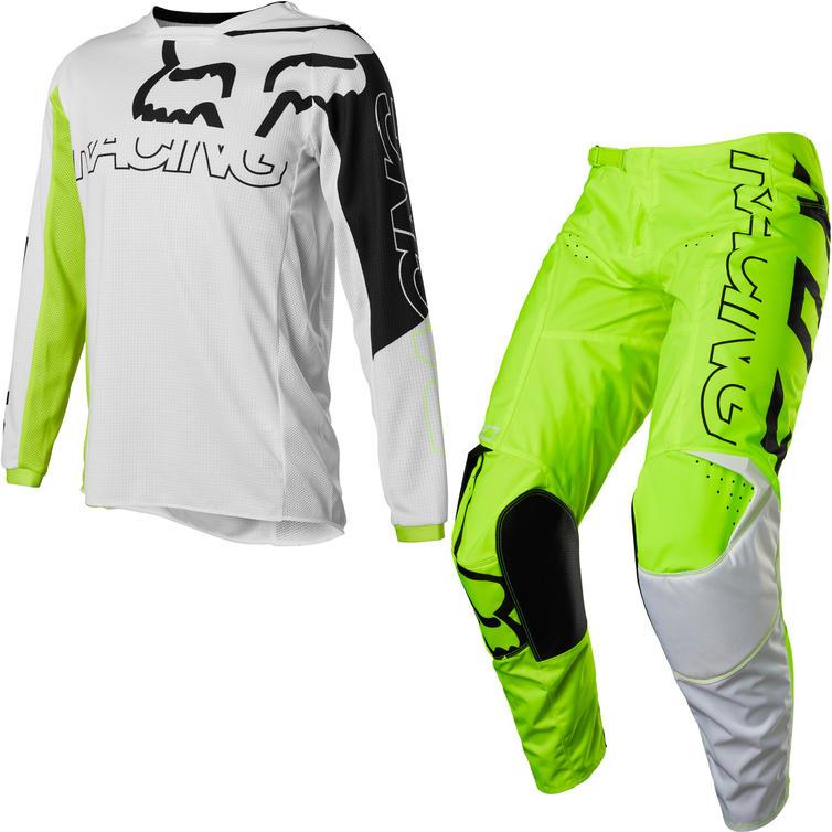 Fox Racing 2022 Youth 180 Skew Motocross Jersey & Pants Fluo Yellow Kit