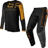 Fox Racing 2022 Youth 180 Skew Motocross Jersey & Pants Black Gold Kit