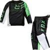 Fox Racing 2022 Kids 180 Skew Motocross Jersey & Pants Black Green Kit Thumbnail 2