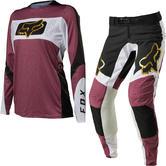 Fox Racing 2022 Ladies Flexair Mirer Motocross Jersey & Pants Purple Haze Kit