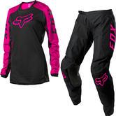 Fox Racing 2022 Ladies 180 Djet Motocross Jersey & Pants Black Pink Kit