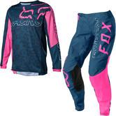 Fox Racing 2022 Youth Girls 180 Skew Motocross Jersey & Pants Dark Indigo Kit