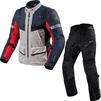 Rev It Defender 3 GTX Motorcycle Jacket & Trousers Red Blue Black Kit Thumbnail 1