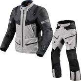 Rev It Defender 3 GTX Motorcycle Jacket & Trousers Silver Anthracite Black Kit