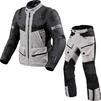 Rev It Defender 3 GTX Motorcycle Jacket & Trousers Silver Anthracite Black Kit Thumbnail 1