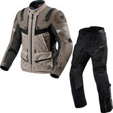 Rev It Defender 3 GTX Motorcycle Jacket & Trousers Sand Black Kit