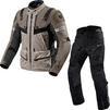 Rev It Defender 3 GTX Motorcycle Jacket & Trousers Sand Black Kit Thumbnail 1