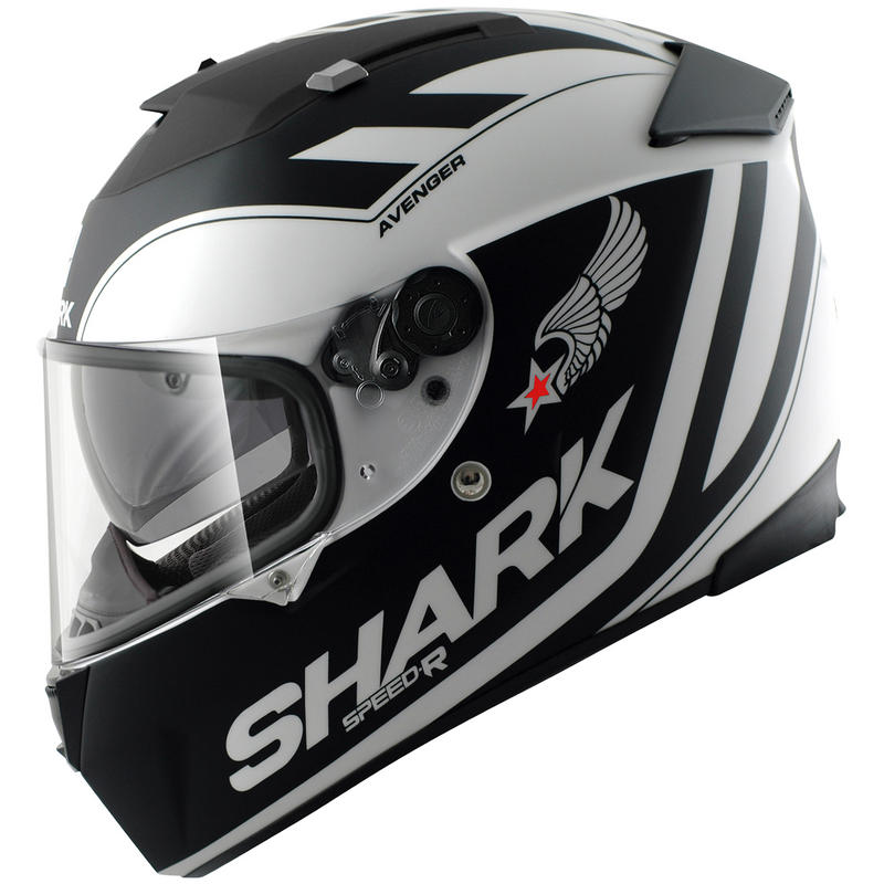 shark speed r avenger motorcycle helmet full face helmets. Black Bedroom Furniture Sets. Home Design Ideas