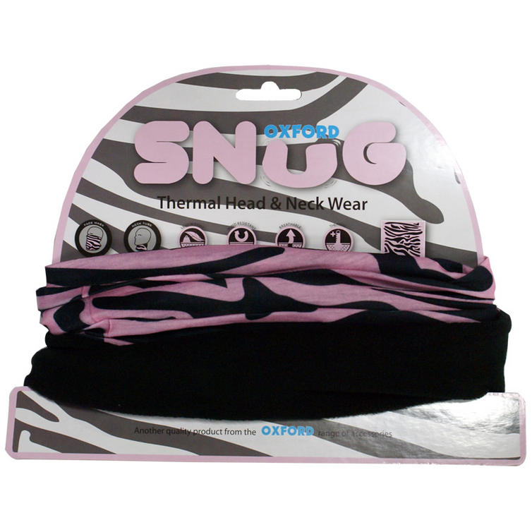 Oxford Snug Pink Zebra Thermal Head & Neck Wear