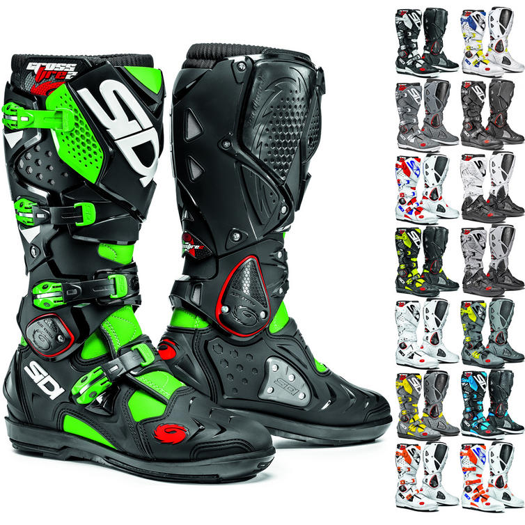 sidi crossfire  Sidi Crossfire 2 SRS Motocross Boots - Motocross Boots -