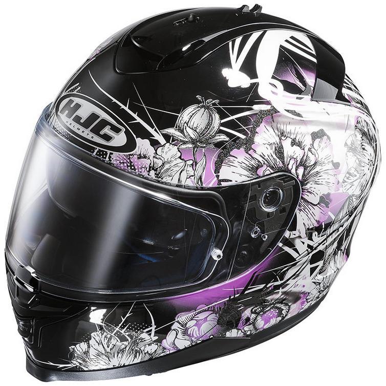 Hjc Is 17 Barbwire Ladies Motorcycle Helmet Full Face