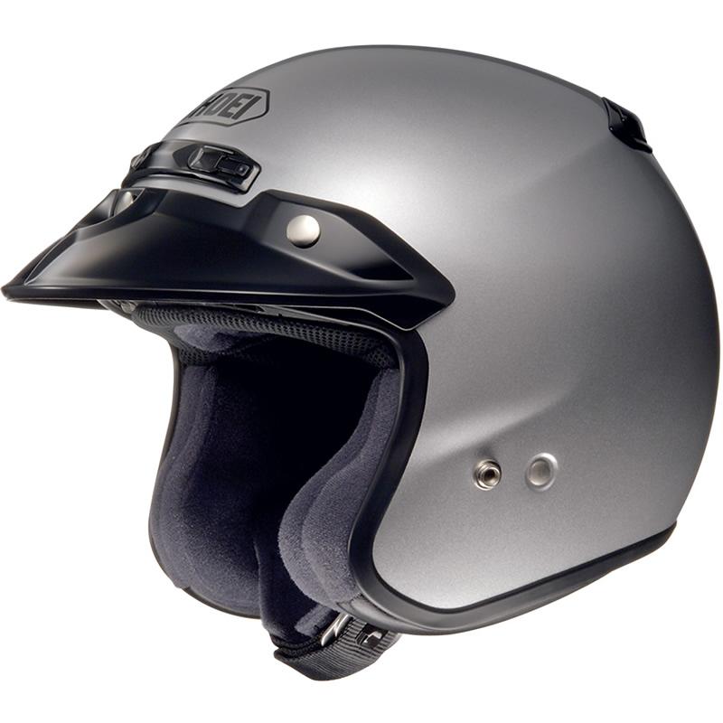 Shoei-RJ-Platinum-R-Silver-Motorcycle-Helmet-Scooter-Moped-Open-Face-Motorbike