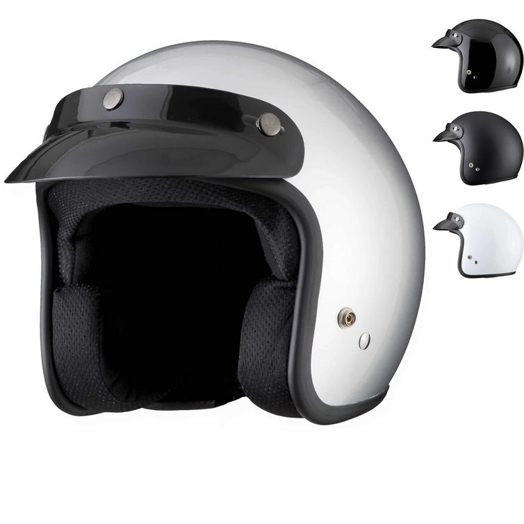 THH T-380 Plain Open Face Cafe Helmet - Open Face Helmets - Ghostbikes.com 628c304121a12