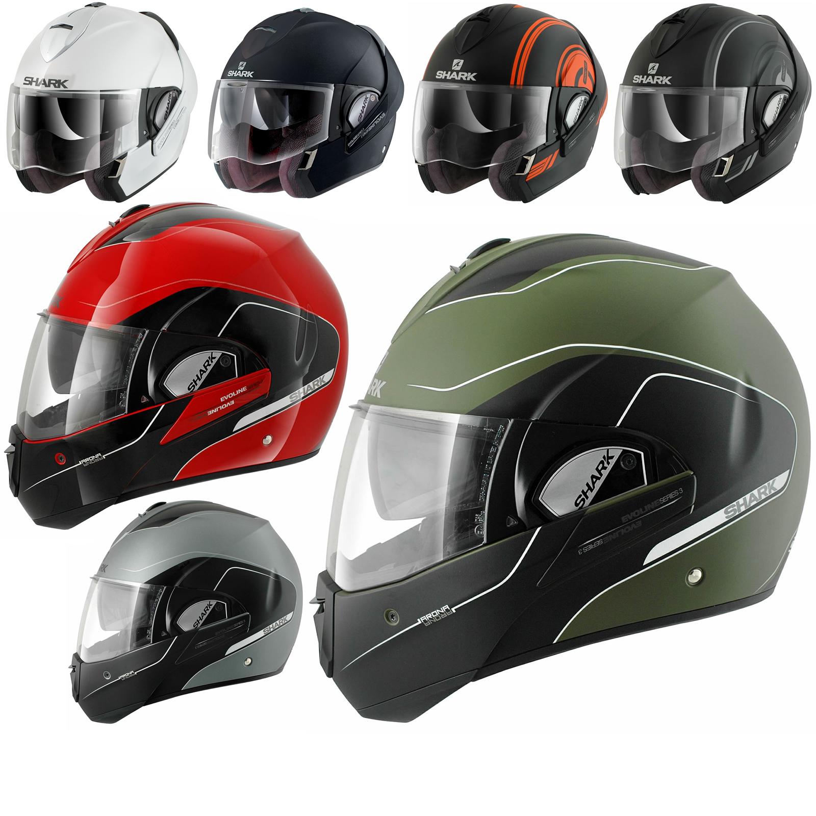 shark evoline series 3 motorcycle helmet free balaclava neck tube flip front helmets. Black Bedroom Furniture Sets. Home Design Ideas