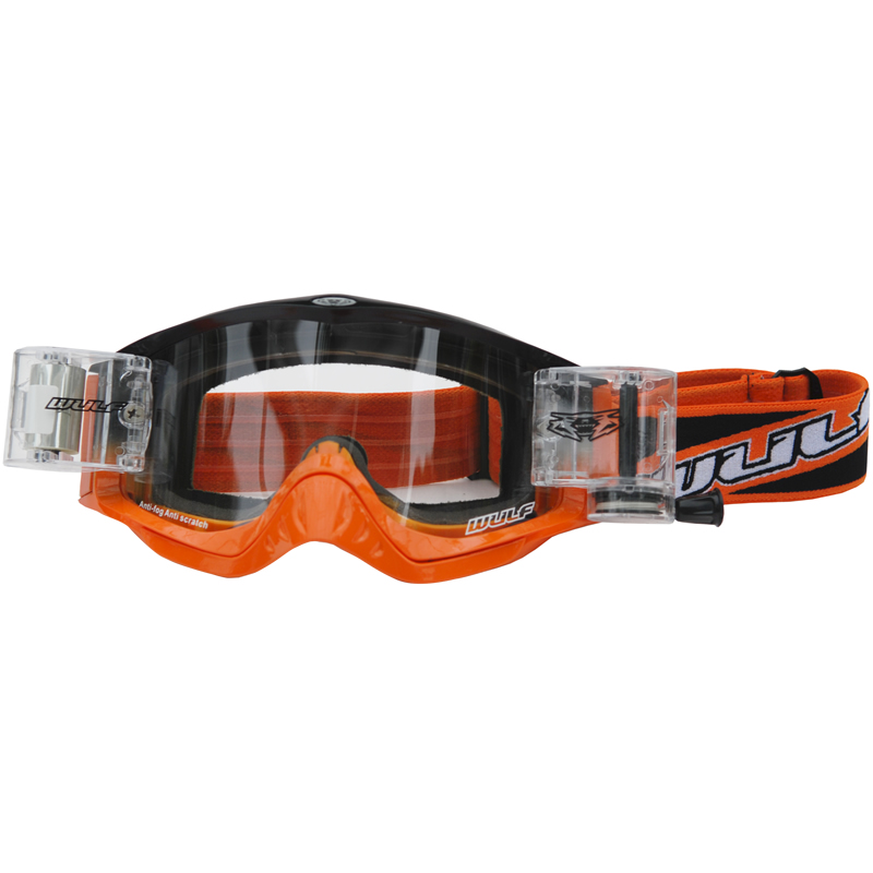 Wulf Shade Roll Off Racer Pack Motocross Goggles Wulfsport Quad