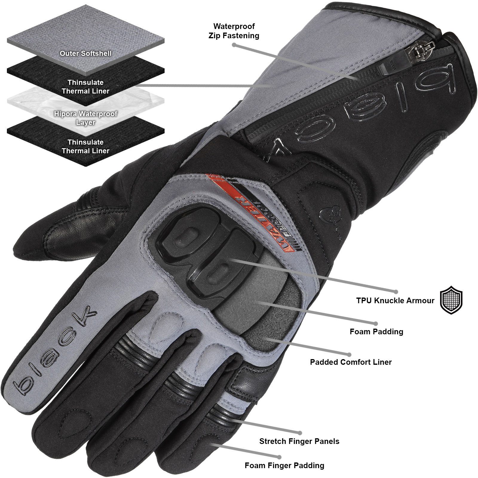 Black Voyage Gloves
