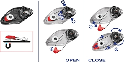 Sidi TECNO-3 Magnetnic Closure System