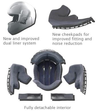 shoei XR-1100 Helmet Comfort image
