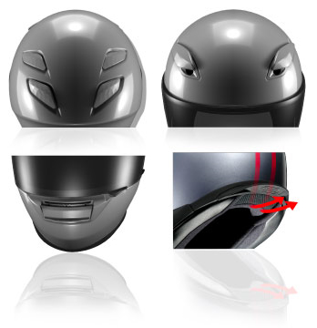 shoei XR-1100 Helmet Ventilation image