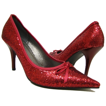 WOMENS RED GLITTER POINTY DOROTHY LADIES SHOES SIZE 2 Buy Online 6992c69f5