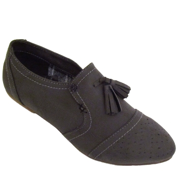 LADIES TAN FLEET /& FOSTER SLIP-ON LOW WEDGE COMFORT LOAFERS SHOES SIZE 6