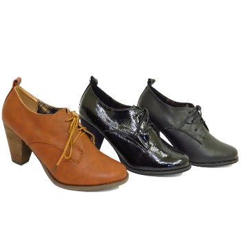 LADIES LACE-UP BROGUE HEELED ANKLE BOOTS WOMENS SHOES SIZES 3-8 Buy ... 483c0d9240