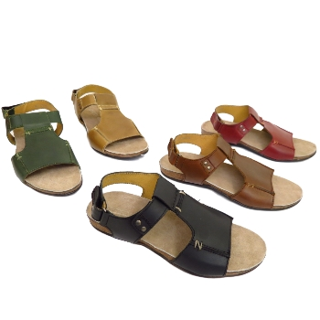 89b0e06cb MENS LEATHER VELCRO OPEN TOE SUMMER MULES CASUAL WALKING SANDALS ...