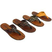 View Item MENS LEATHER SLIP-ON TOE-POST THONG SUMMER SANDALS FLIP-FLOPS SHOES SIZES 6-12
