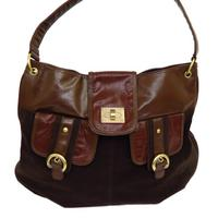 View Item NEW OVER-SHOULDER LARGE LADIES BROWN BURGUNDY SHOPPER WOMENS HAND-BAG