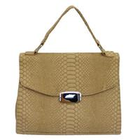 View Item NEW OVER-SHOULDER LADIES BEIGE NUDE NATURAL SNAKESKIN EFFECT WOMENS HAND-BAG
