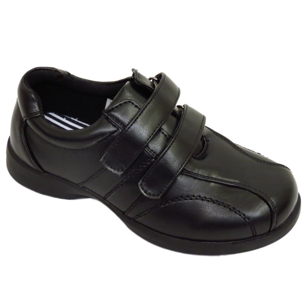 best shoes special sales good texture CHILDRENS BOYS KIDS BLACK SCHOOL VELCRO COMFORT SHOES TRAINER ...