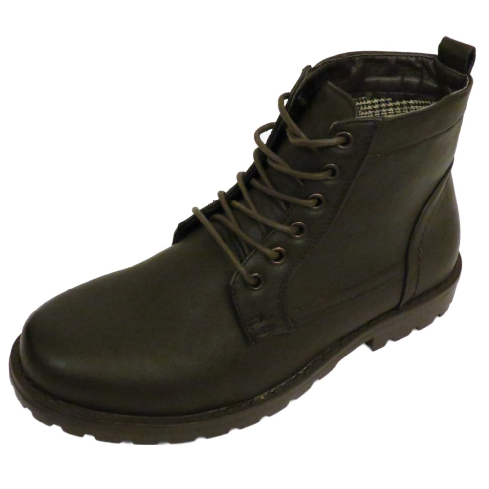 MENS BROWN EX DESIGNER LACE-UP COMBAT MILITARY ARMY ANKLE BOOTS SHOES SIZES 6-12 | EBay