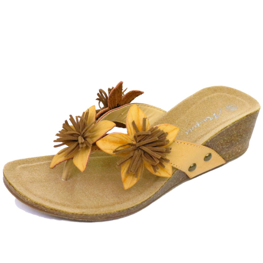 e93a825709abf LADIES SAND TOE-POST SUMMER WEDGE FLOWER SANDALS ...