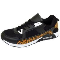 View Item MENS BOYS RUNNING TRAINERS BLACK LEOPARD LACE GYM SPORTS CASUAL SHOES SIZE 6-11