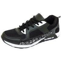 View Item MENS BOYS RUNNING TRAINERS BLACK SNAKE LACE GYM SPORTS CASUAL SHOES SIZE 6-11