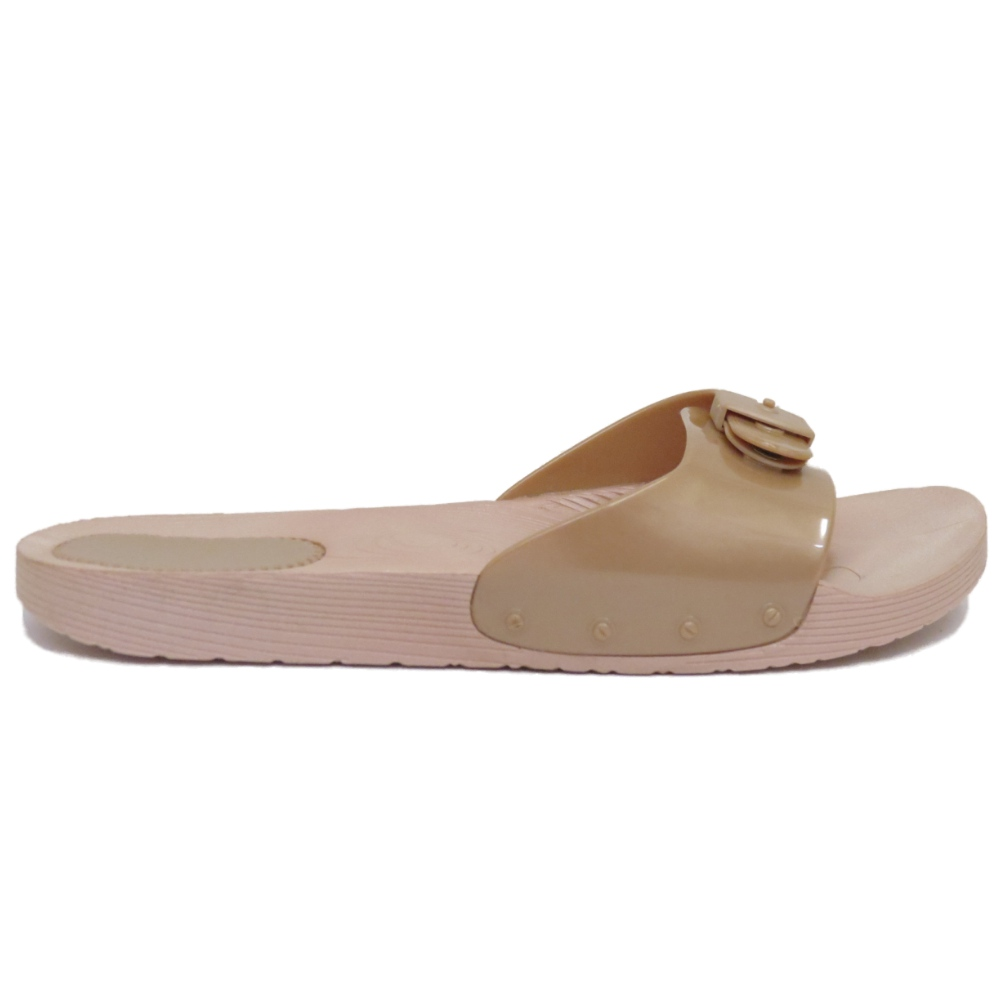 22f4955bbc55ba Sentinel LADIES GOLD MULES FLAT SLIP-ON JELLY FLIP-FLOP BEACH COMFY SANDAL  SHOES SIZE