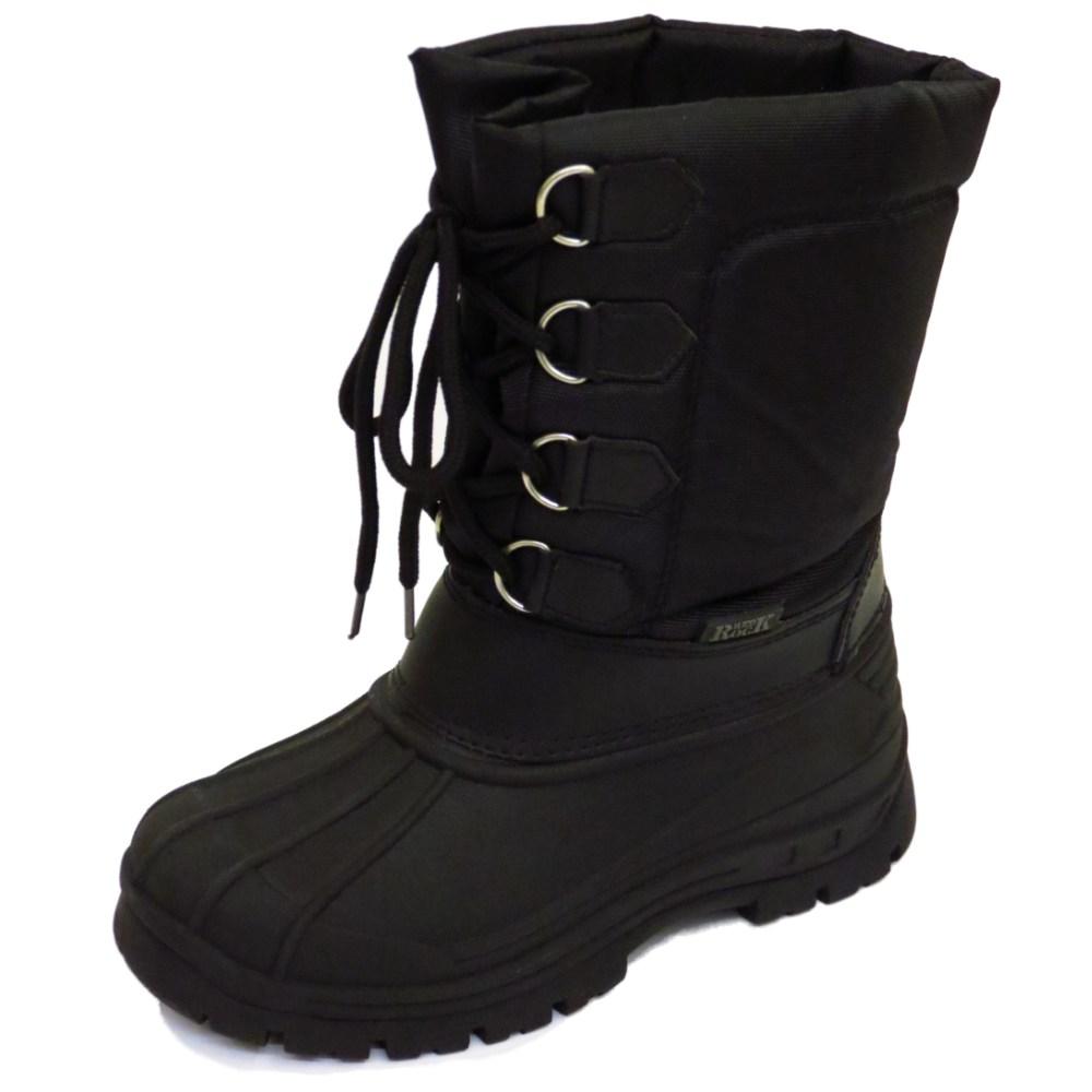 86e6238234af GIRLS BOYS KIDS BLACK LACE WINTER WARM SNOW RAIN SKI THERMAL BOOTS ...