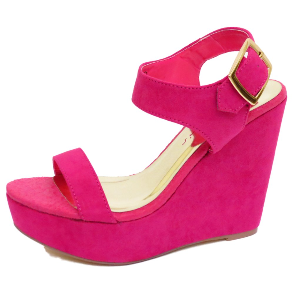 Pink Wedge Shoes Size
