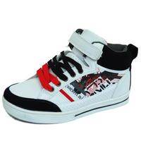 View Item BOYS CHILDRENS KIDS FLAT LACE-UP HI-TOP SKATER TRAINERS SHOES PUMPS SIZES 13-6