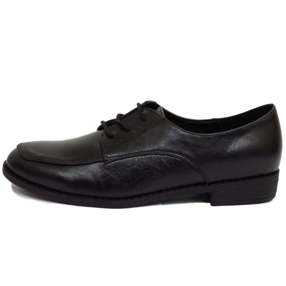 Chica Oxford Cordones De Detalles Trabajo Planos Negros Mujer Con Zapato Zapatillas Escuela Ew0qU70