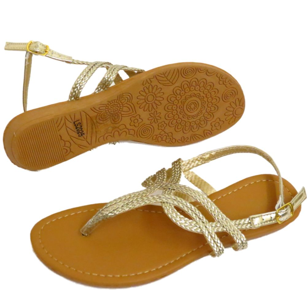 272fad2eae2b18 Details about LADIES GOLD TOE-POST FLAT SANDALS FLIP-FLOP SHOES HOLIDAY  SUMMER PUMPS UK 3-8