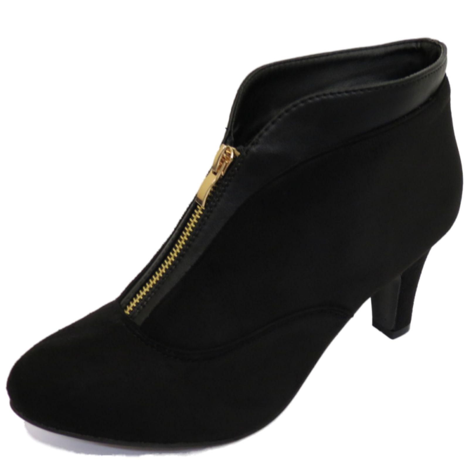 Black Kitten Heel Shoes Size