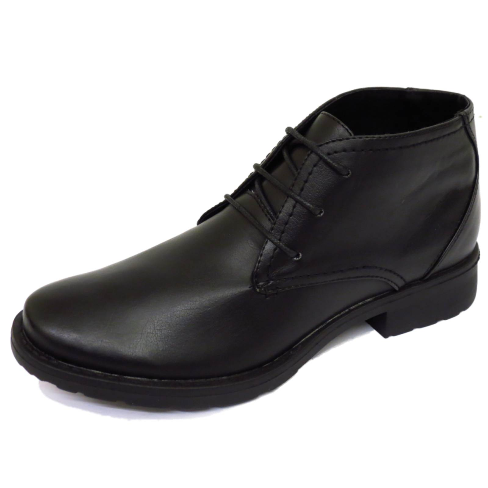 Mens Black Lace Up Smart Work Military Army Ankle Casual Boots Shoes