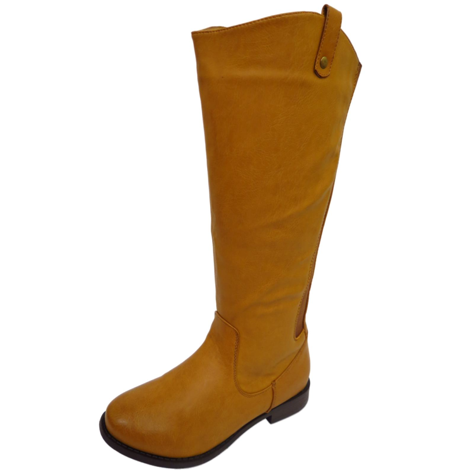 LADIES TAN EXTRA WIDE CALF WIDE-FIT