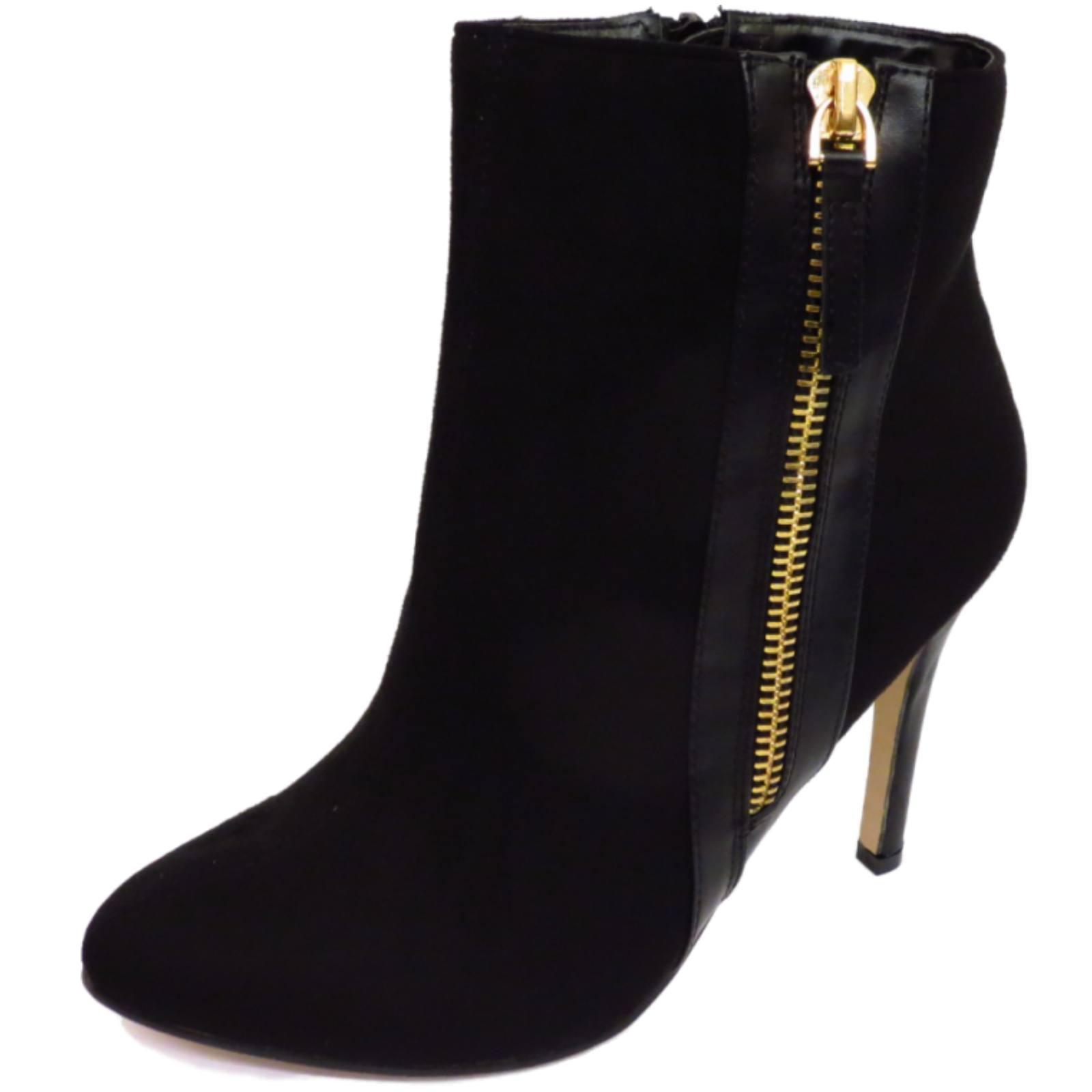 Femme dolcis noir zip-up high-chelsea ᄄᄂ talon travail bottes mi-hauteur chaussures-afficher le titre d'origine