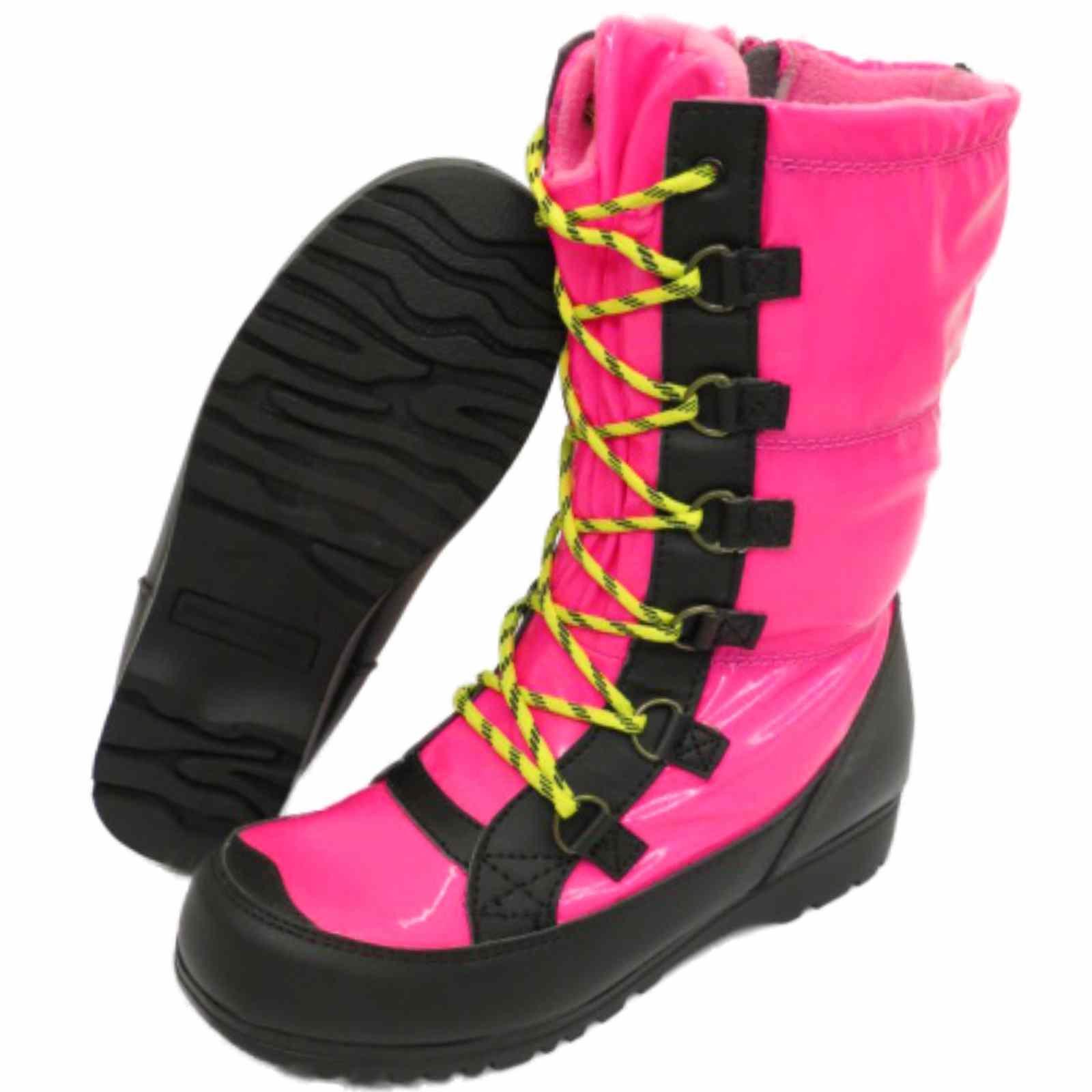 f3229687b94a Sentinel GIRLS KIDS PINK WINTER WARM ZIP ICE SNOW RAIN SKI THERMAL BOOTS UK  10-6