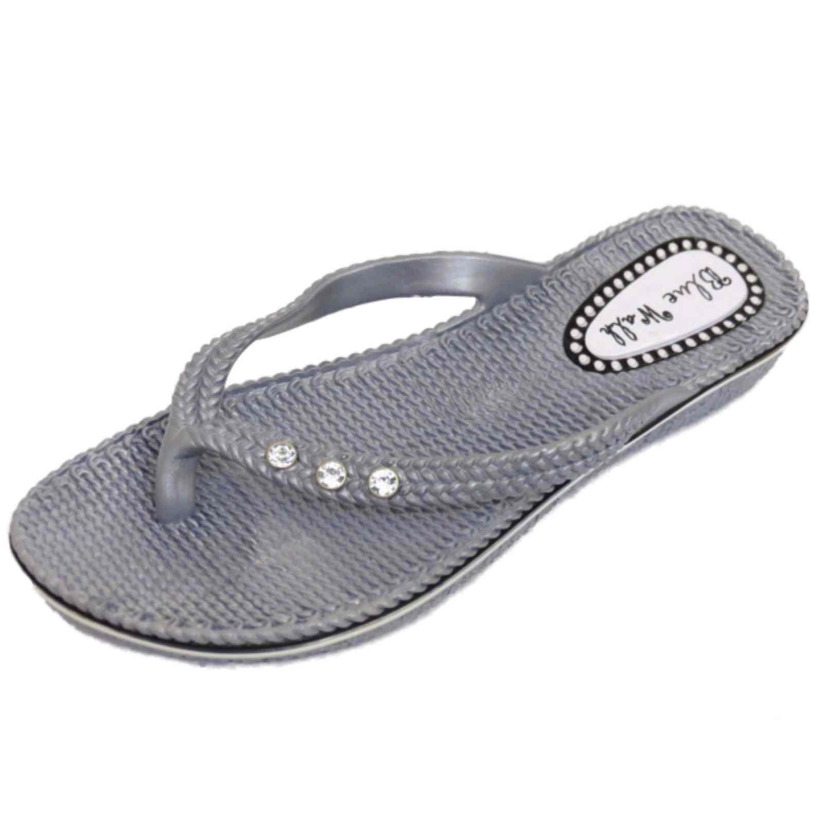 7074bbfde1a62 Tongs String Sandale Vacances Argent Plage Été Plates Femmes fAOBE